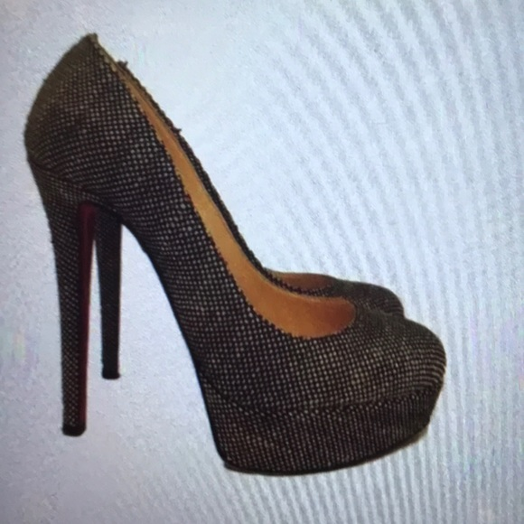 half off b6259 174eb Christian Louboutin bianca tweed 140 platform pump
